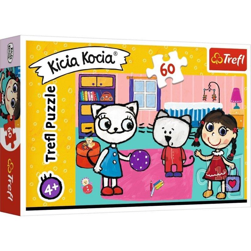 Puzzle 60 Trefl 17343 Kicia Kocia z Przyjaciółmi