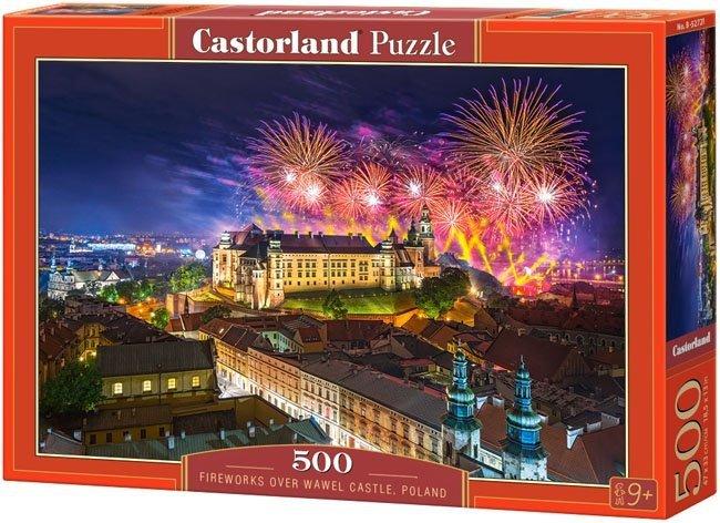 Puzzle 500 Castorland B-52721 Fajerwerki nad Zamkiem Wawelskim