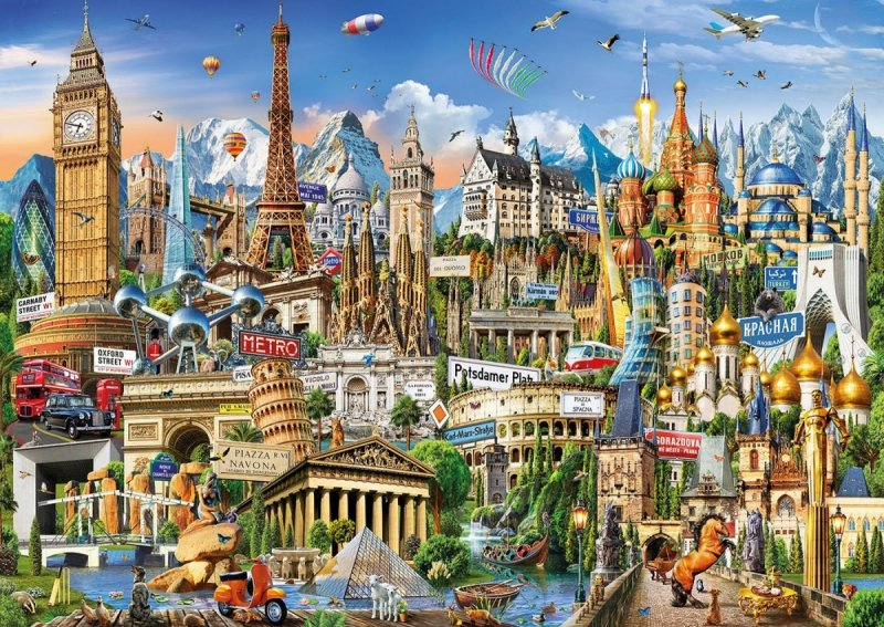 Puzzle 2000 Educa 17697 Europa - Zabytki