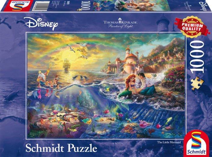 Puzzle 1000 Schmidt 59479 Thomas Kinkade - Mała Syrenka - Disney