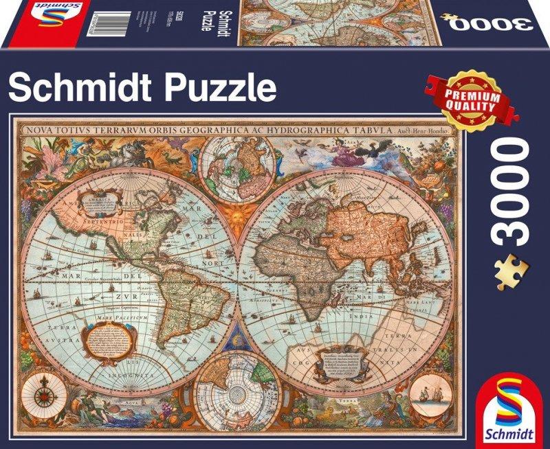 Puzzle 3000 Schmidt 58328 Starożytna Mapa Świata