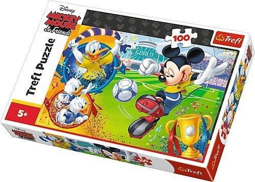 Puzzle 100 Trefl T-16353 Myszka Miki Piłka Nożna