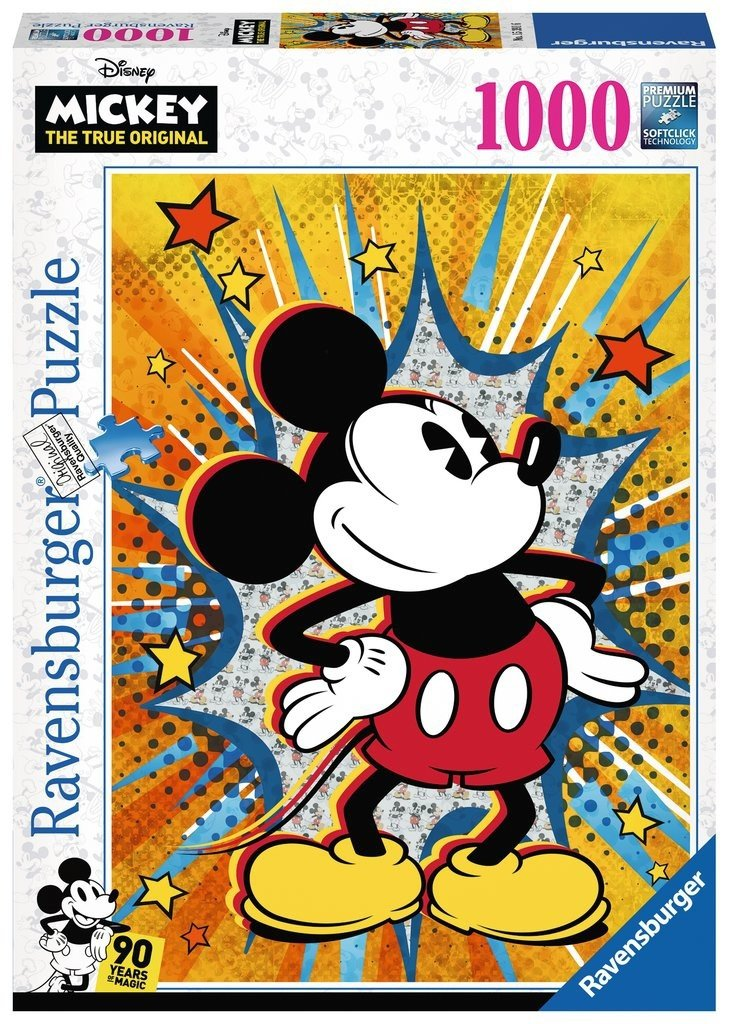 Puzzle 1000 Ravensburger 153916 Retro Mickey