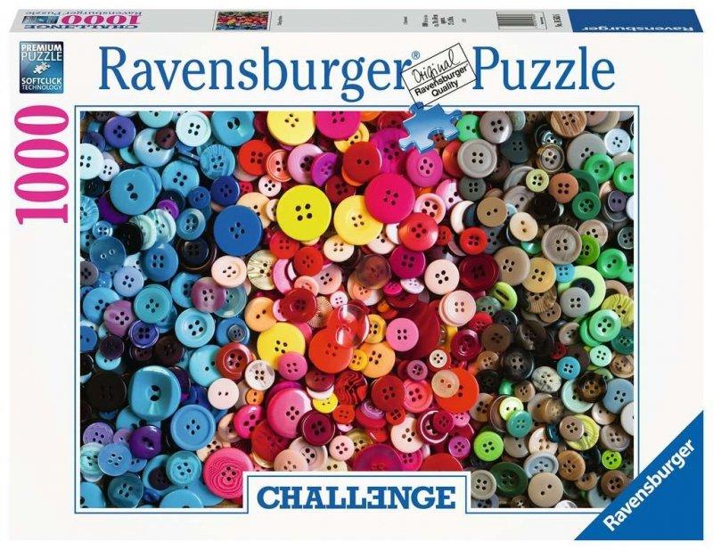 Puzzle 1000 Ravensburger 165636 Kolorowe Guziki - Wyzwanie