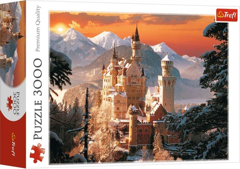 Puzzle 3000 Trefl 33025 Zimowy Zamek Neuschanstein