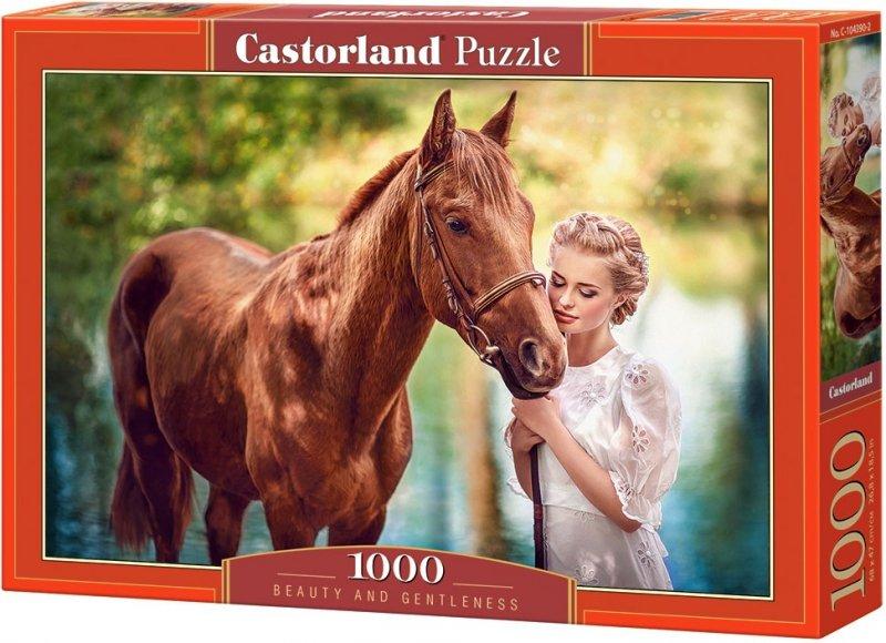 Puzzle 1000 Castorland 104390 Dziewczyna i Koń - Piękno i Łagodność