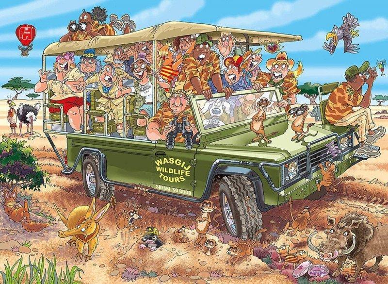 Puzzle 1000 Jumbo 19164 Wasgij Original 31 Niespodzianka na Safari