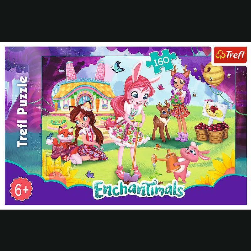 Puzzle 160 Trefl 15361 Enchantimals w Ogrodzie