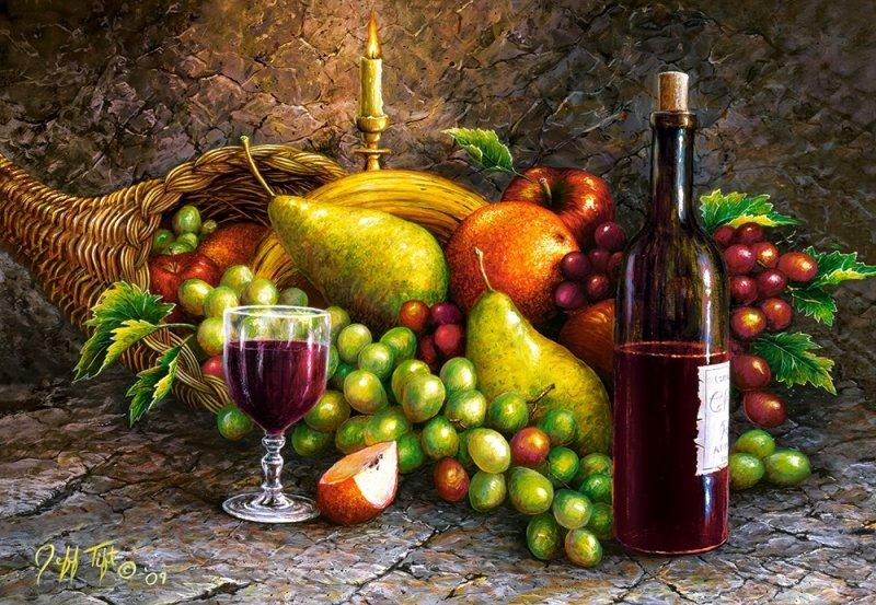 Puzzle 1000 Castorland C-104604 Owoce i Wino