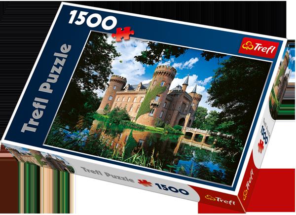 Puzzle 1500 Trefl 26074 Zamek Moyland, Północna Nadrenia Westfalia, Niemcy