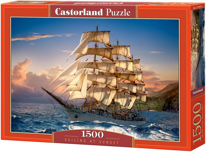 Puzzle 1500 Castorland C-151431 Żaglowiec - Sailing at Sunset_02