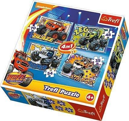 Puzzle 4w1 Trefl T-342567 Blaze