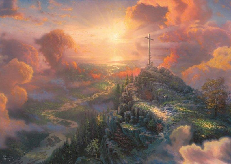 Puzzle 1000 Schmidt 59679 Thomas Kinkade - Święty Krzyż