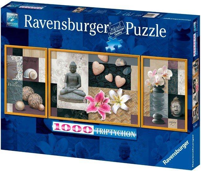 Puzzle 1000 Ravensburger 199921 Tryptyk Spokój i Harmonia