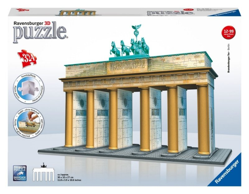 Puzzle 3D 324 Ravensburger 125517 Brama Brandenburska