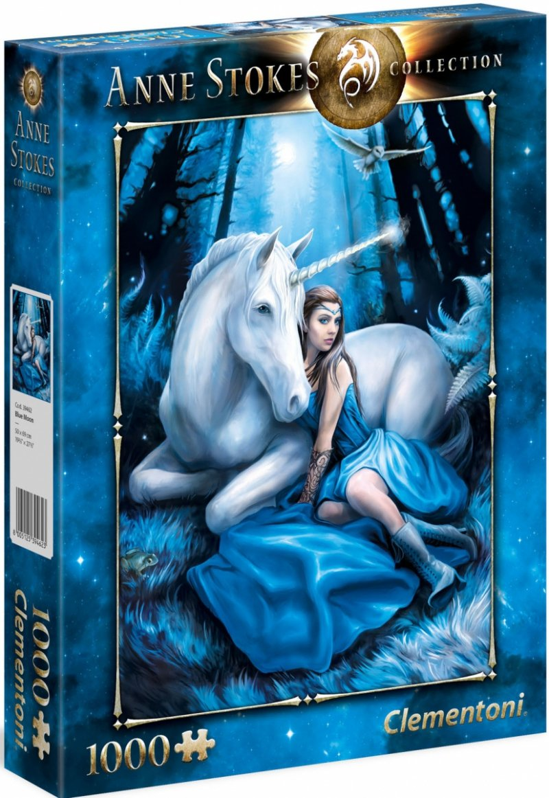 Puzzle 1000 Clementoni 39462 Anne Stokes Collection - Blue Moon