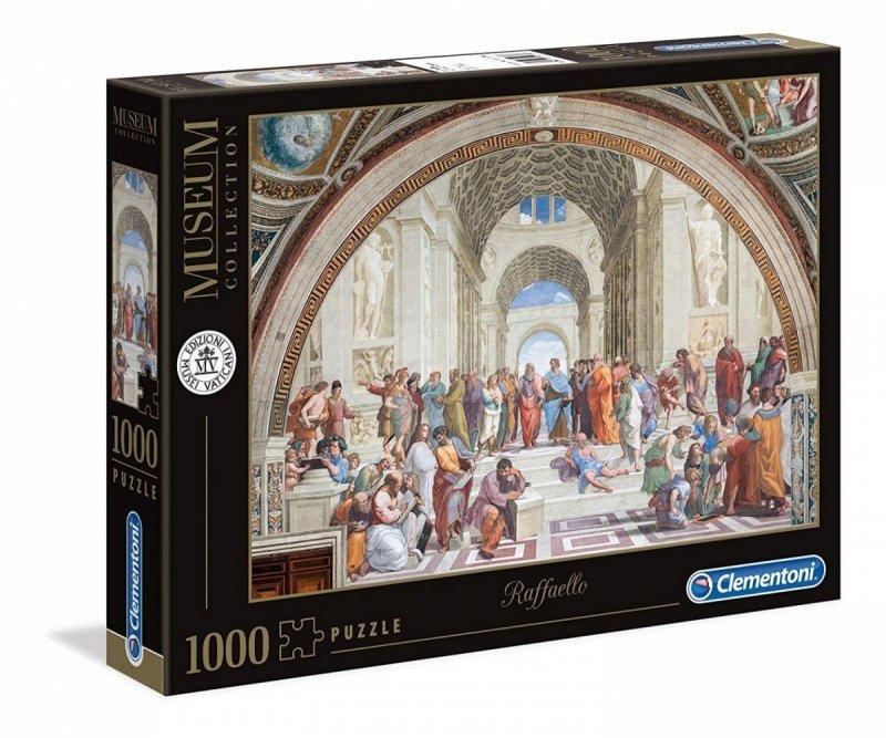 Puzzle 1000 Clementoni 39483 Museum - Szkoła Ateńska