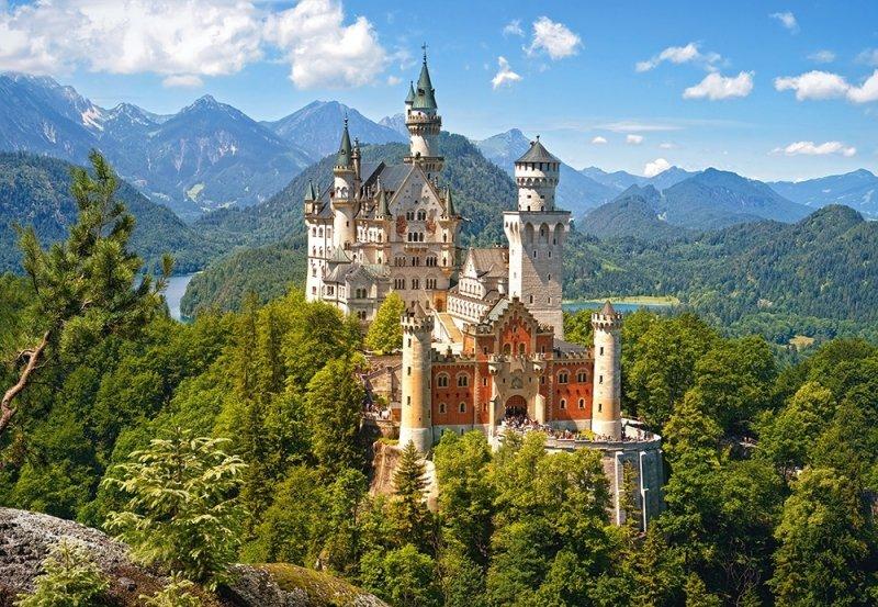 Puzzle 500 Castorland B-53544 View of the Neuschwanstein Castle