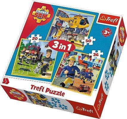 Puzzle 3w1 Trefl T-34844 Strażak Sam w Akcji