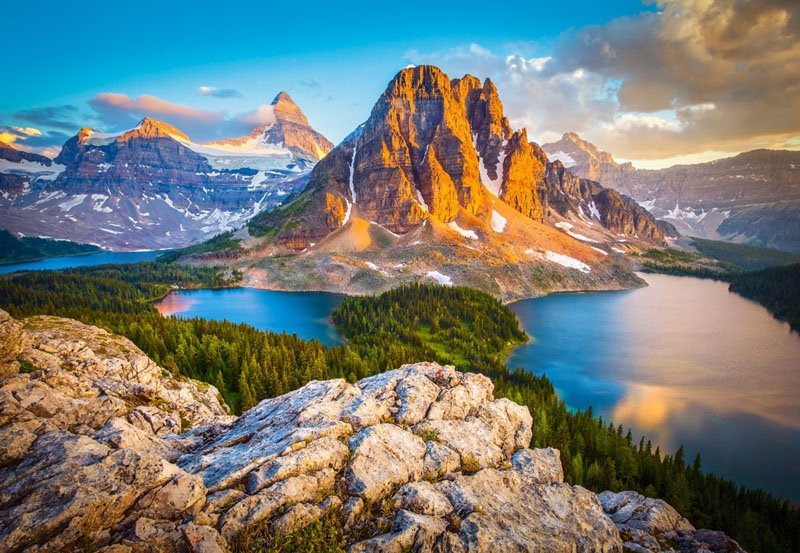 Puzzle 1000 Castorland C-103423 Assiniboine Vista - Banff National Park - Kanada
