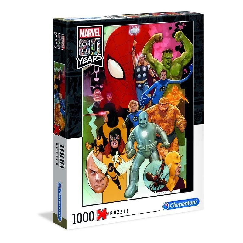 Puzzle 1000 Clementoni 39534 Marvel 80 Years