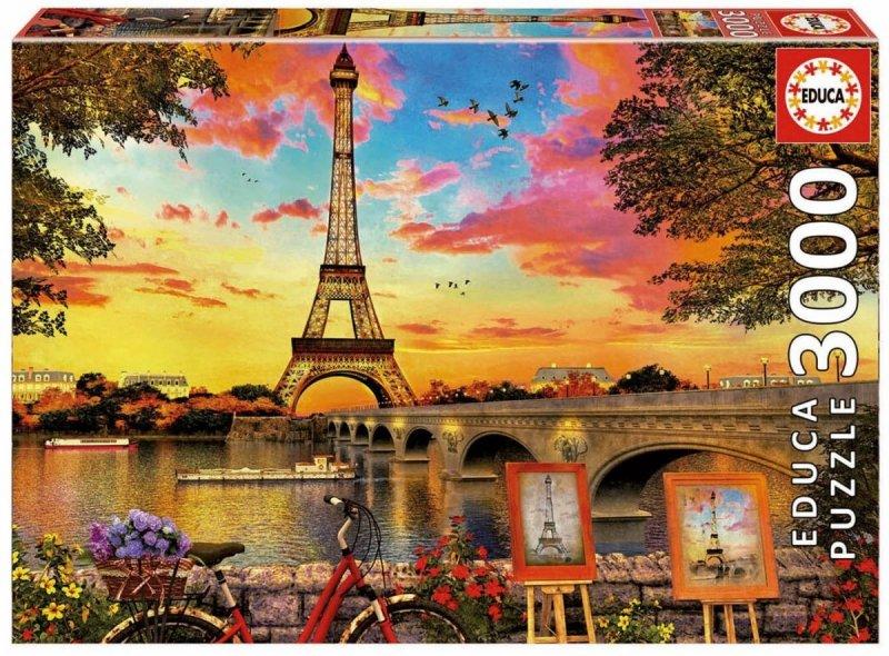 Puzzle 3000 Educa 17675 Wschód Słońca w Paryżu