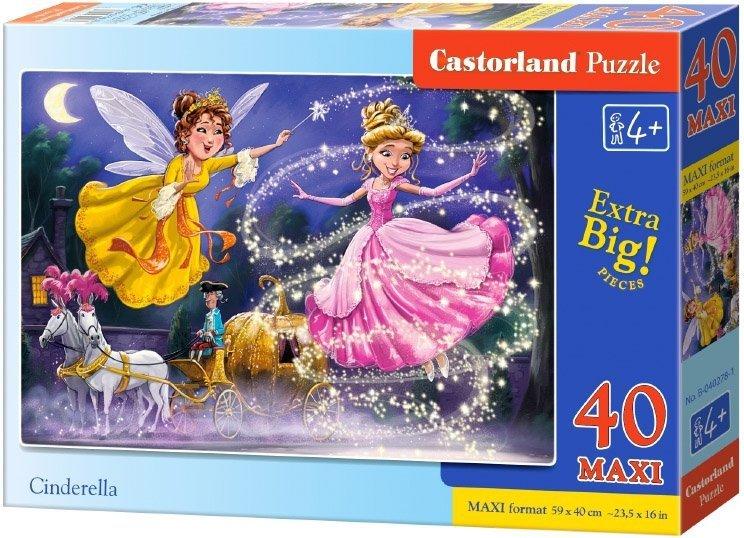 Puzzle 40 Maxi Castorland B-040278 Kopciuszek