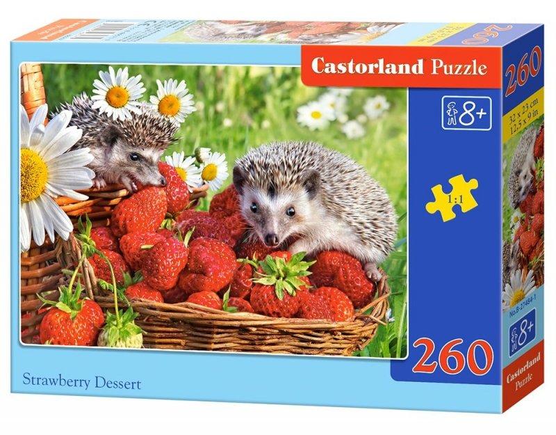 Puzzle 260 Castorland 27484 Jeże na Truskawkach
