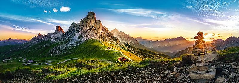 Puzzle 1000 Trefl 29038 Panorama - Dolomity - Passo di Giau