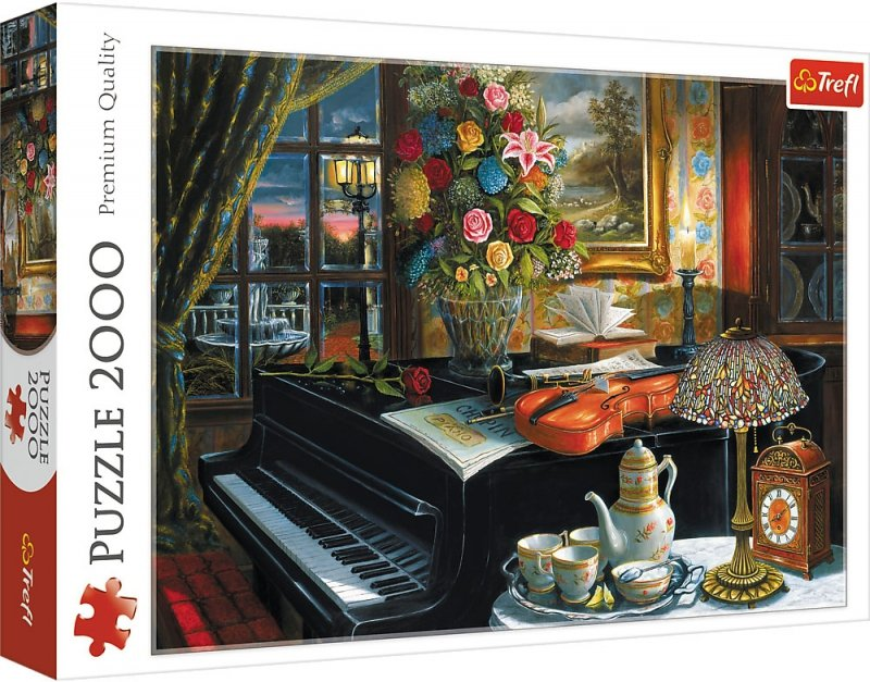 Puzzle 2000 Trefl 27112 Martwa Natura z Fortepianem