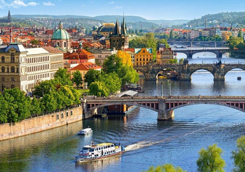 Puzzle 500 Castorland B-53087 Mosty w Pradze