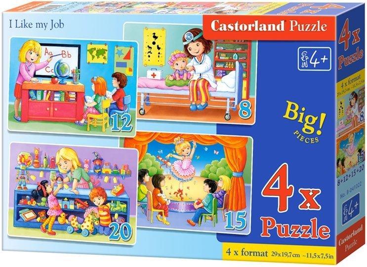 Puzzle 8,12,15,20 Castorland B-041022 Lubię Swoją Pracę