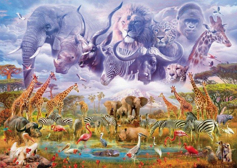 Puzzle 1000 Schmidt 58356 Zwierzęta przy Wodopoju