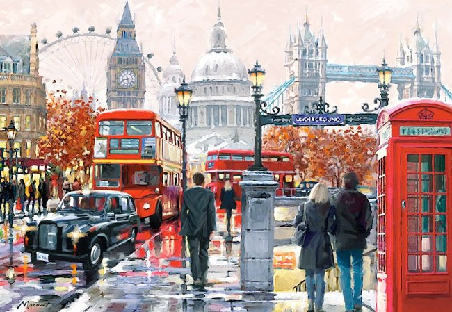 Puzzle 1000 Castorland C-103140 London - Collage