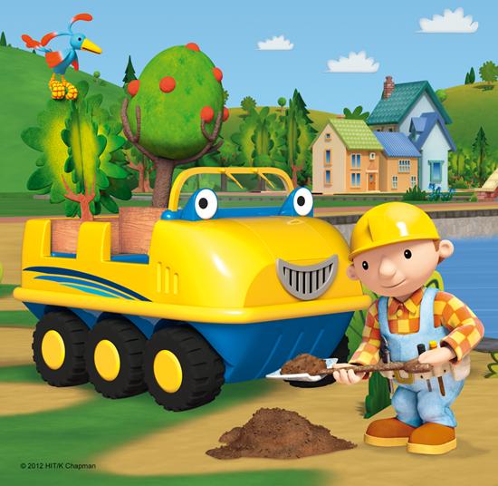 Puzzle 3w1 Trefl T-34129 Bob Budowniczy - Na Budowie