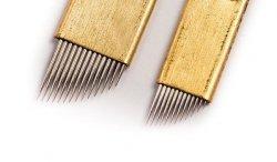 Igły / piórka do mikrobladingu Złote