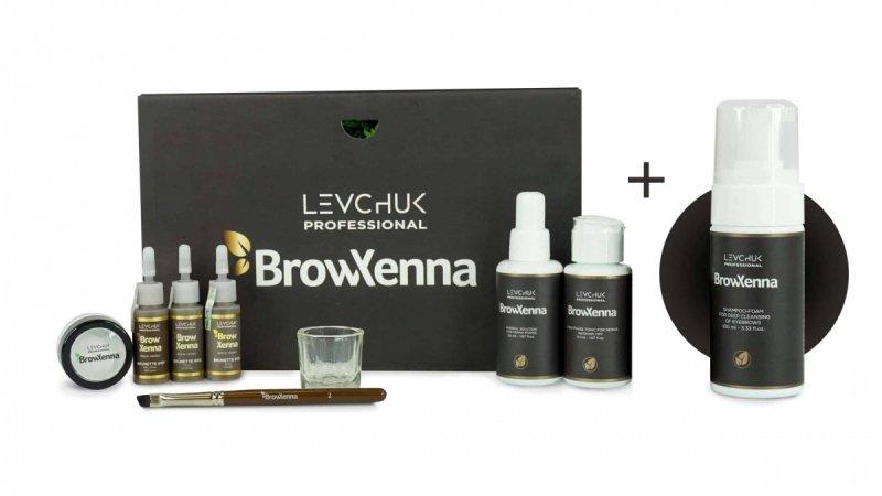BrowXenna Brow Box Brunette [Zestaw 10 elementów]