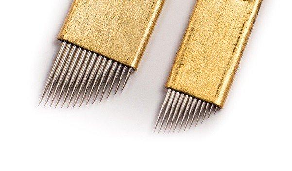 Igły/Piórka do mikrobladingu Złote