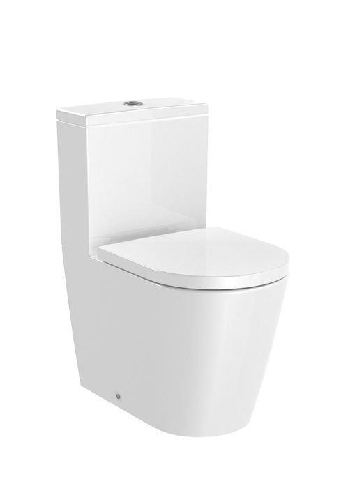 Inspira     Miska WC o/podwójny do kompaktu WC Round Rimless  Wymiary:  Szerokość: 375 mm.  Głębokość: 600 mm.  Wysokość: 760 mm