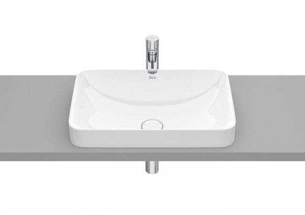 Inspira     Umywalka blatowa cienkościenna Square   Wymiary:  Szerokość: 550 mm.  Głębokość: 370 mm.  Wysokość: 75 mm