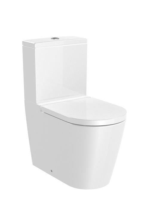 Inspira     ROUND - Miska WC do kompaktu Rimless o/podwójny       Wymiary:      Szerokość: 375 mm.      Głębokość: 645 mm.      Wysokość: 795 mm.