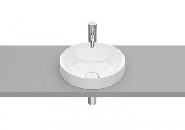 Inspira     Umywalka blatowa cienkościenna Round FINECERAMIC® z powłoką MaxiClean  Wymiary:  Szerokość: 370 mm.  Głębokość: 370 mm.  Wysokość: 75 mm