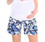 MijaCulture - spodenki ciążowe 4116/M78 niebieskie motyle
