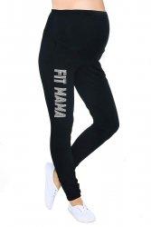 Wygodne spodnie ciązowe dresowe Fit Mama 9077 czarne