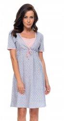 Elegancka koszula 2 w 1 ciążowa i do karmienia 5062/4044 jasno szary