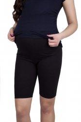 MijaCulture - wygodne krótkie legginsy ciążowe 4008/M25 czarny