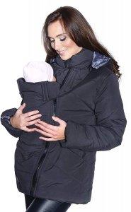 Ciepła kurtka zimowa 3 w1 (dodatkowe 2 panele) 1108 czarny