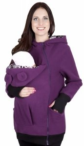 MijaCulture - bluza polarowa do noszenia dziecka 4019A/M21 fiolet