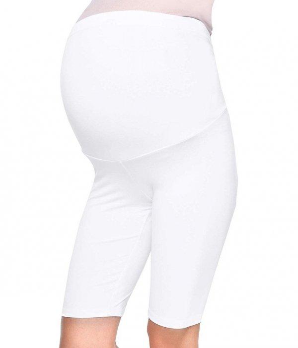 Wygodne legginsy ciążowe Mama biały 3