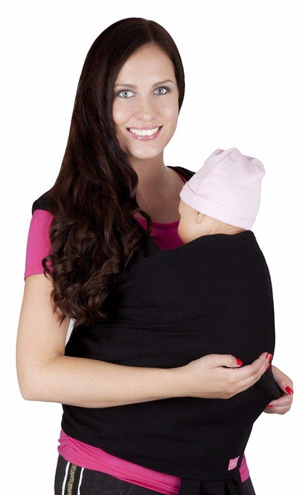 chusta do noszenia dzieci 4011/M28 czarny 1